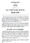 The RCA 811K Manual Cover