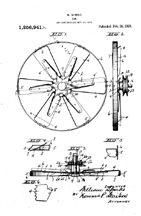Sparks Radiator Fan Patent No. 1,256,941