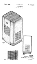 Walter Dorwin Teague, Patent for a Space Heater Cabinet, D-113,294