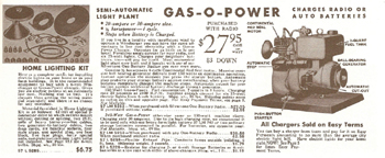 Sears Galoline Powered Home Electric Plant