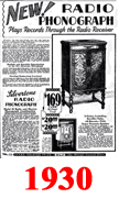 Sears Catalogue Radio Ads for 1930