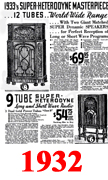 Sears Catalogue Radio Ads for 1932