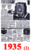 Sears Catalogue Radio Ads for 1935 (2)