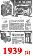 Sears Catalogue Radio Ads for 1939 (2)