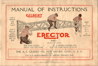 Cover of the 1919 How to Make'em book for Erector Sets