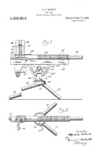 Patent for the the A.C. Gilbert Company Machine gun no 1310613