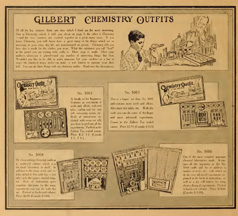 Gilbert Chemistry Sets from the 1918 Catlogue