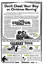 Literary Digest ad for the A.C. Gilbert Company Machine gun