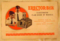 A.C. Gilbert Company Erector Brik Set -- instructions