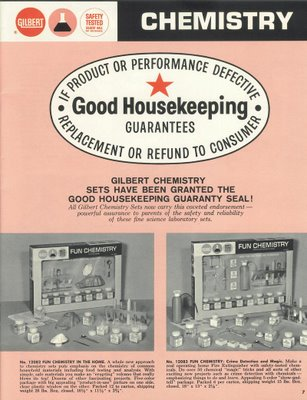 The Gilbert Chemistry Set wins the Good housekeeping seal
