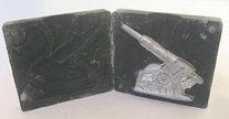 A.C. Gilbert Company Metal Casting Set --- Cannon Mold