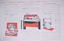 Ad forthe A.C. Gilbert Company Big Boy Tool Set in the form of a workbench