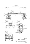 A.C. Gilbert Company New Wheel Toy Sled Patent No. 1424011