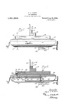 Patent for the the A.C. Gilbert Company G-150 Submarine no 1351565