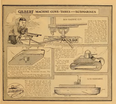 Gilbert War Toys from the 1918 Catlogue
