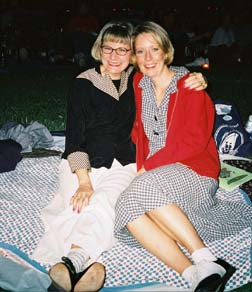 Angela and Karyn on the Lawn