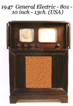 Phpto of the 1947 GE Television as new