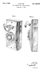 Western Electric Model 500 Wall phone Patent D-152,276