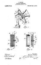 Early Telephone Transmitter, Patent No 1,087,718