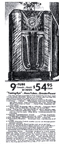 Sears Catalogue Advertisement for the Model 1968 Silvertone Radio