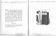 Catalogue excerpt for the Gray Model 14 Payphone