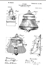Bell Shaped payphone collector Patent No. 636,134