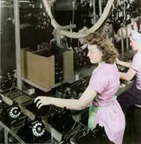 Ladies assembling the Model 300s