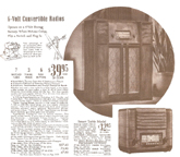 Ad from the 1940 Sears Catalogue for the Silvertone Model 6368 Table Radio