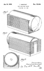 Silvertone Model 6110 Table Radio Design Patent D-113,004