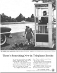Aluminum and Glass Phone Booth Ad emphasizing safety