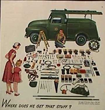 Ad featuring lineman equipment