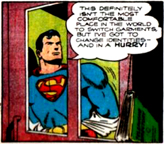 Clark Kent Changes into Superman in a phone booth