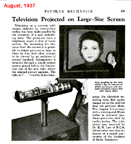 Theater projection TV