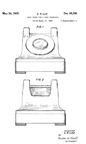 Western Electric Model 302 Telephone Mount Dreyfuss Design patent D- 95,765