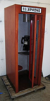 1950s Wood Telephone Booth -- door open