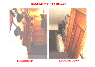 Steps to the Basement Storage Area