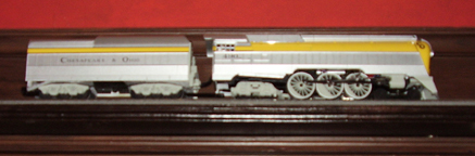 Model of the C and O No. 490 Streamlined Locomotive