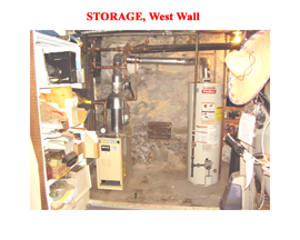 Basement Storage Area West Wall