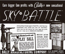 Ad for the Bally Sky battle coin operated game