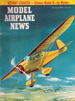 Model Airplane News Cover for February, 1959 by Jo Kotula Central Air Monocoupe 90A