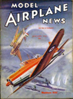 Model Airplane News Cover for January, 1941 by Jo Kotula Blacburn Roc
