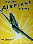 Model Airplane News Cover for September, 1941 by Jo Kotula North American P-51 Mustang
