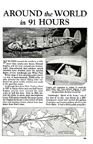 Howard Hughes Round the world flight Lockheed electra Popular Mechanics September 1938