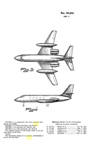 Lockheed 1329 JetStar Transport Design Patent  D-191,243