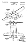 Northrop P-61 Black Widow Night Fighter Design Patent D-144,211