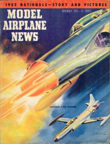 November 1952 cover of Model Airplane News, drawing of the Lockheed F-94 Starfire by Jo Kotula