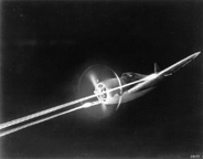 The Republic P-47 Thunderbolt  firing its guns