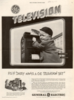 Vintage Television Advertisement General Electric, December 6 1947 issue of the saturday Evening Post