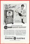 Vintage Television Advertisement General Electric 17 Inch TV