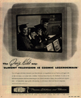 Vintage Television Advertisement DuMont TVs and the Quiz Kids NY Times Magazine 1945